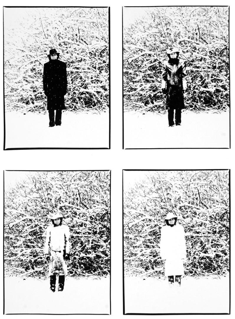 Fotó: Vécsy Attila, Havas önarckép, Martonvásár I Snowy Self-Portrait, Martonvásár, Hungary, 1978 © Vécsy Attila