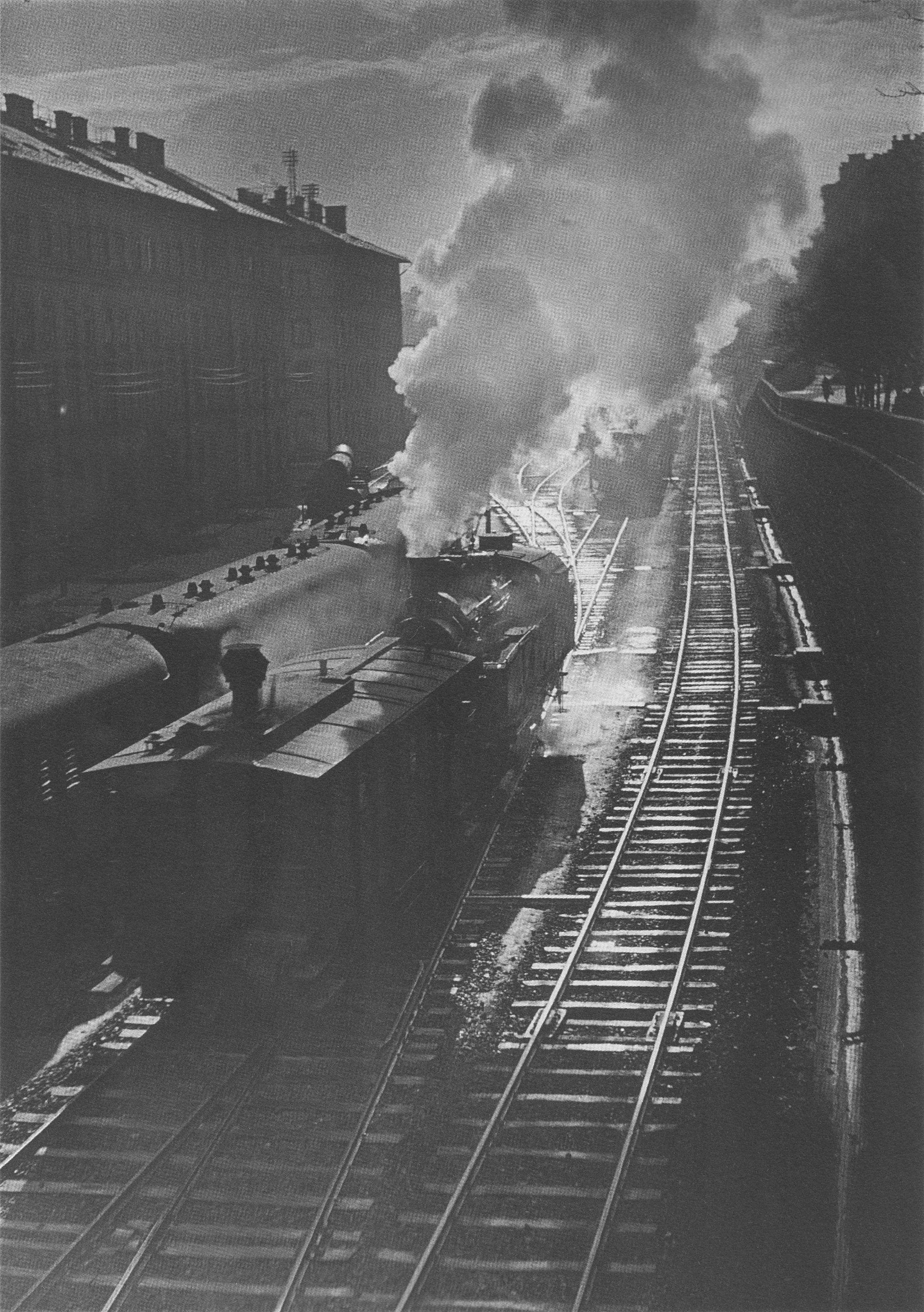 Fotó: Dulovits Jenő: Tolatás, 1940-es évek eleje © Fejér Zoltán gyűjteménye