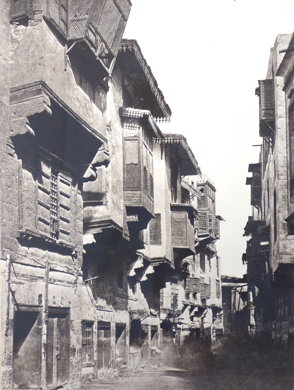 Fotó: Felice vagy Antonio Beato: Kairó, utca a citadella közelében, 1860 körül, 29,2 x 25 cm, új nagyítás albumin pozitívról