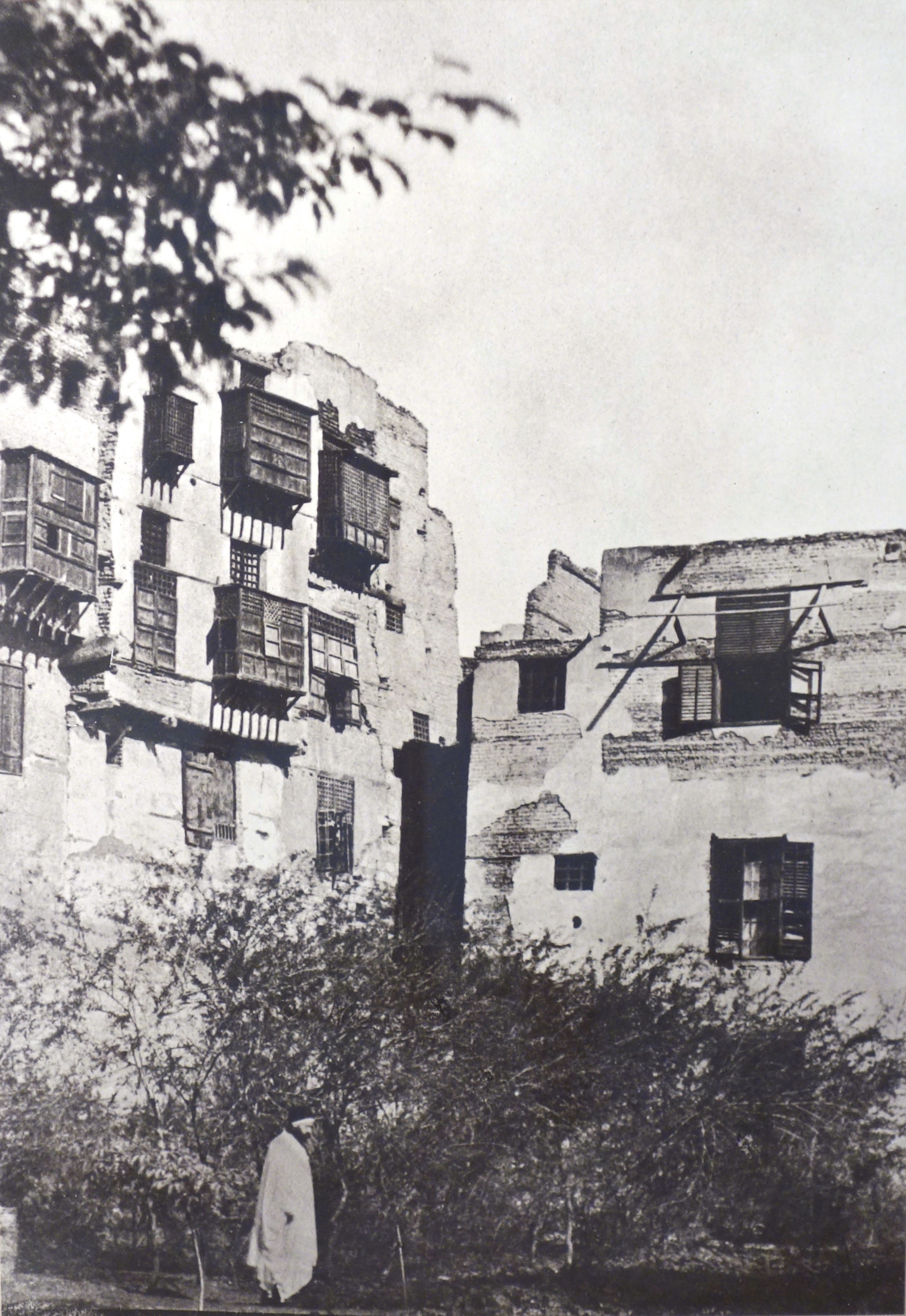 Fotó: Maxime Du Camp: Gustave Flaubert egy kertben Kairó francia negyedében, 1850. január 9., 20,3 x 15 cm, új nagyítás papírnegatívról