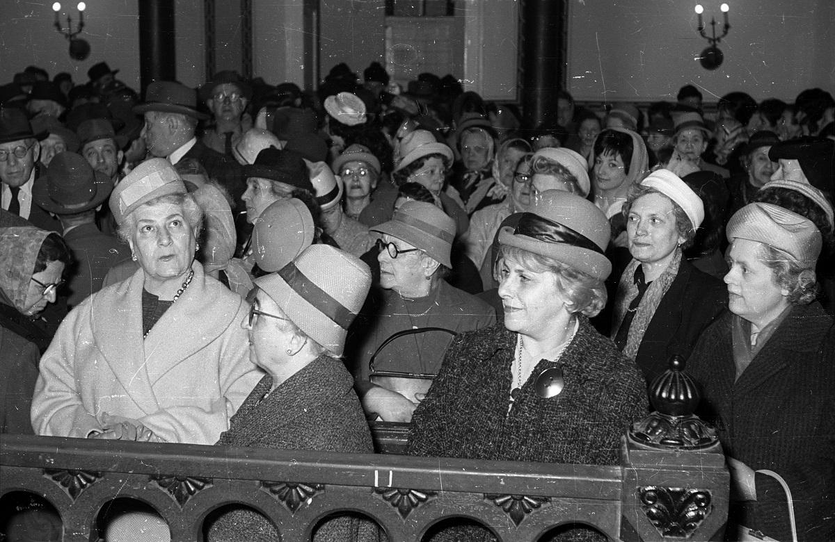 Fotó: József körút 27., az Országos Rabbiképző Intézet zsinagógája, Budapest VII. ker., Magyarország, 1964 © Fortepan / Bauer Sándor