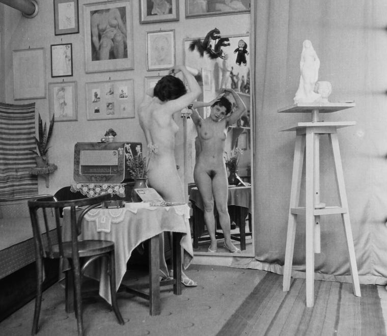 Fotó: Kirchmayer Károly szobrászművész műterme, 1958 © fortepan.hu