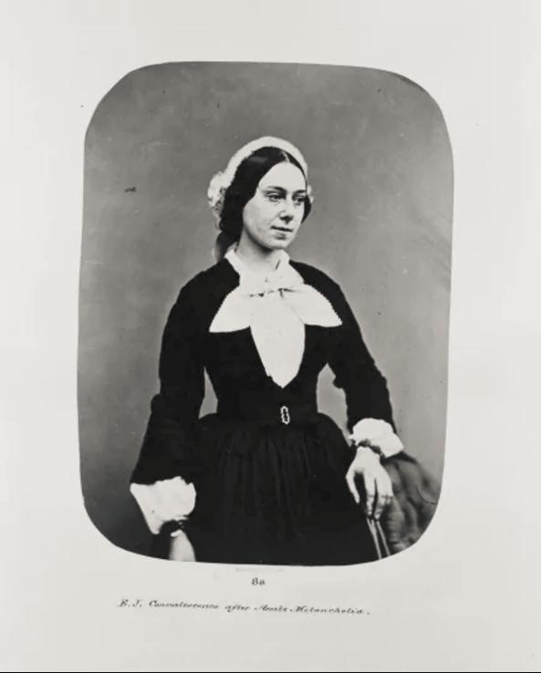 Fotó: Henry Hering: Eliza Josolyne-t 1859 májusáig megfigyelték, hogy 'milyen mértékben változik mentális állapota', utána átkerült a kórház 'gyógyíthatatlanok listájára'. © Bethlem Art and History Collections Trust