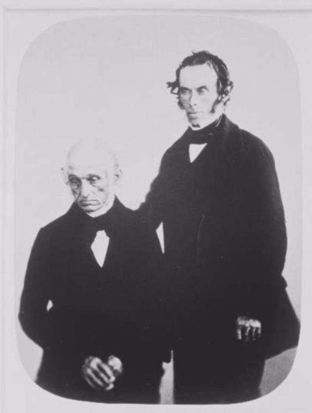 Fotó: Henry Hering: John Bailey és fia, Thomas, 1858-ban mindketten akut melankóliával érkeztek. © Bethlem Art and History Collections Trust