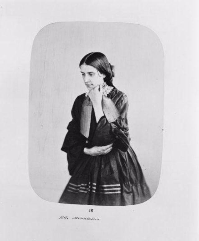 Fotó: Henry Hering:  Sarah Gardner, 26 évesen, 1857-ben utalták be, diagnózis: depresszió © Bethlem Art and History Collections Trust