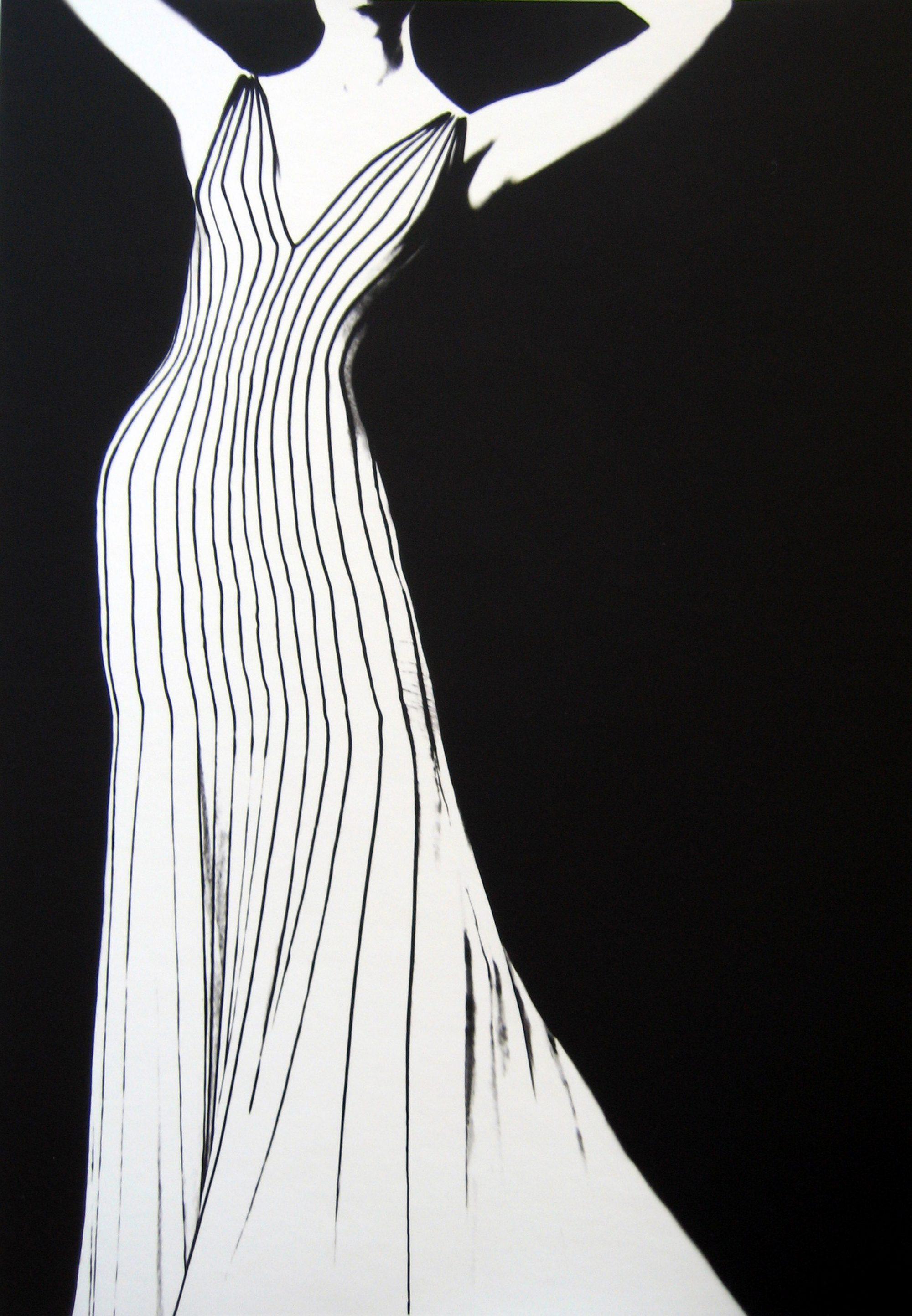 Fotó: Lillian Bassman: Dress by Theirry Mugler, German Vogue, 1998
