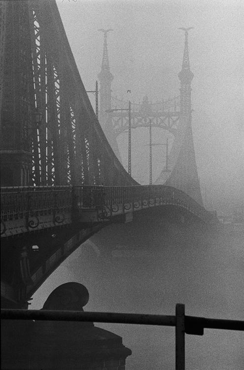 Fotó: Schäffer Zsuzsa: Híd a ködbe, Budapest, 1990-1991 © Schäffer Zsuzsa
