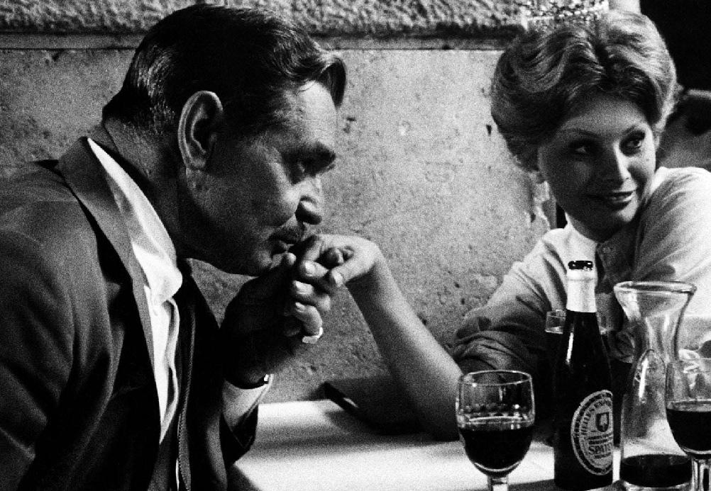 Fotó: Robert Lebeck: Clark Gable és Sophia Loren, Róma 1959 © Robert Lebeck