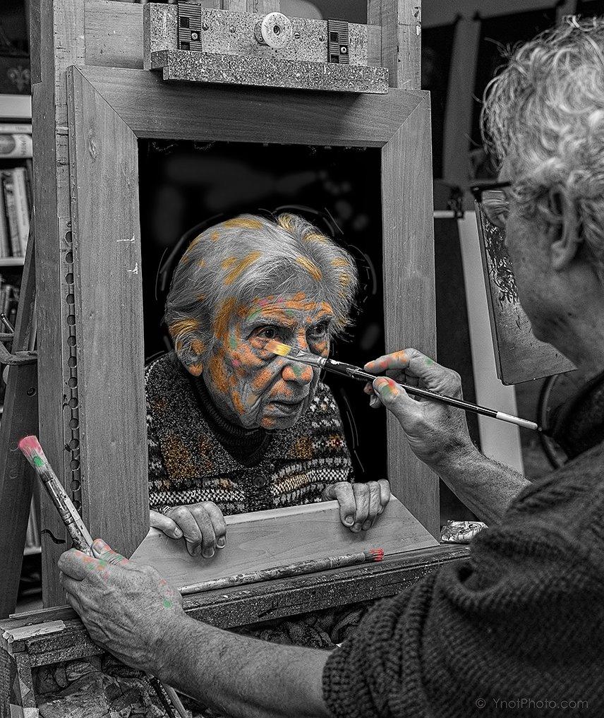 Fotó: © Tony Luciani<br /><br />Portré egy idős nőről