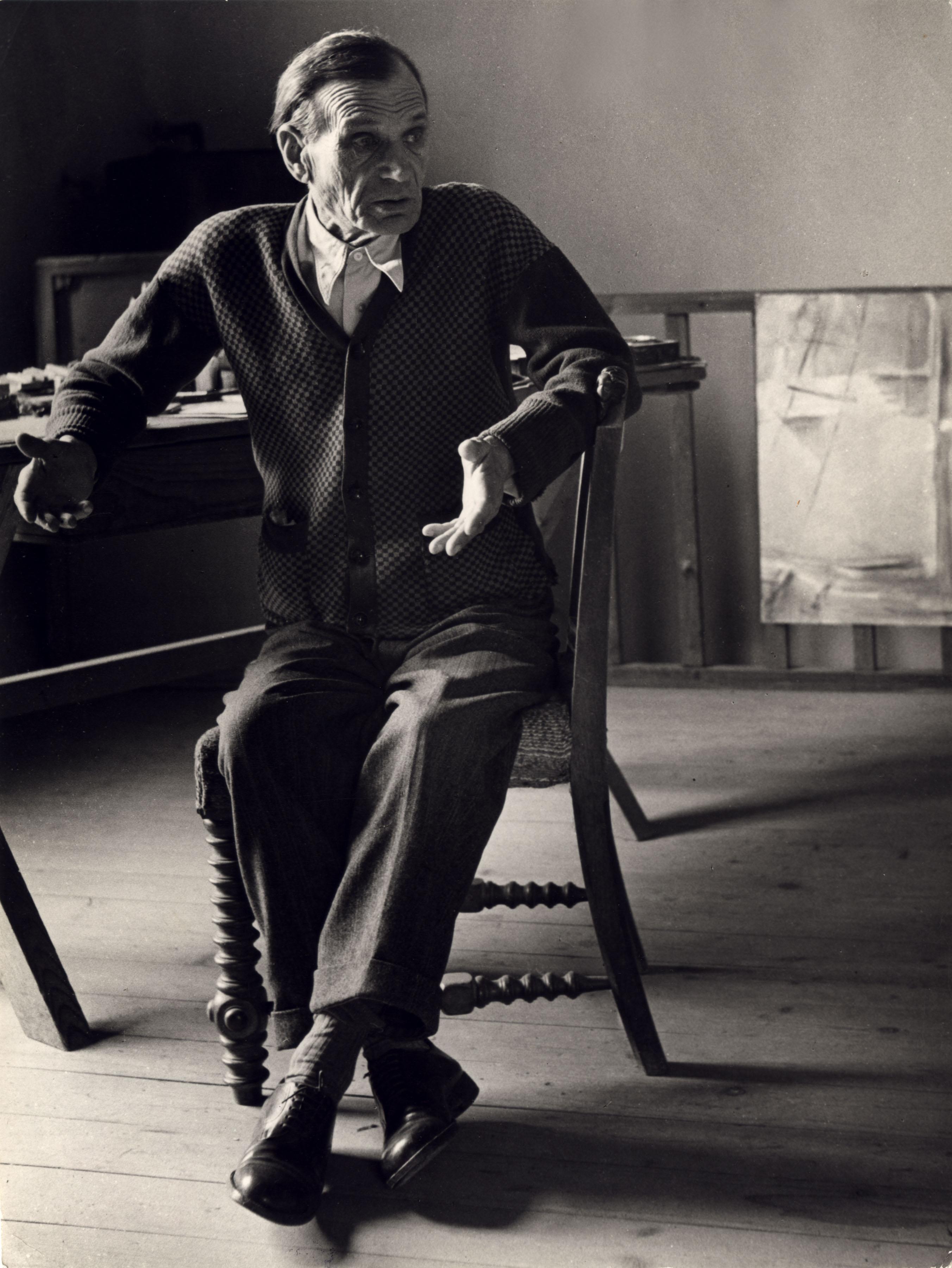 Fotó: Gink Károly: Egry József, 1949 © Magyar Fotográfiai Múzeum