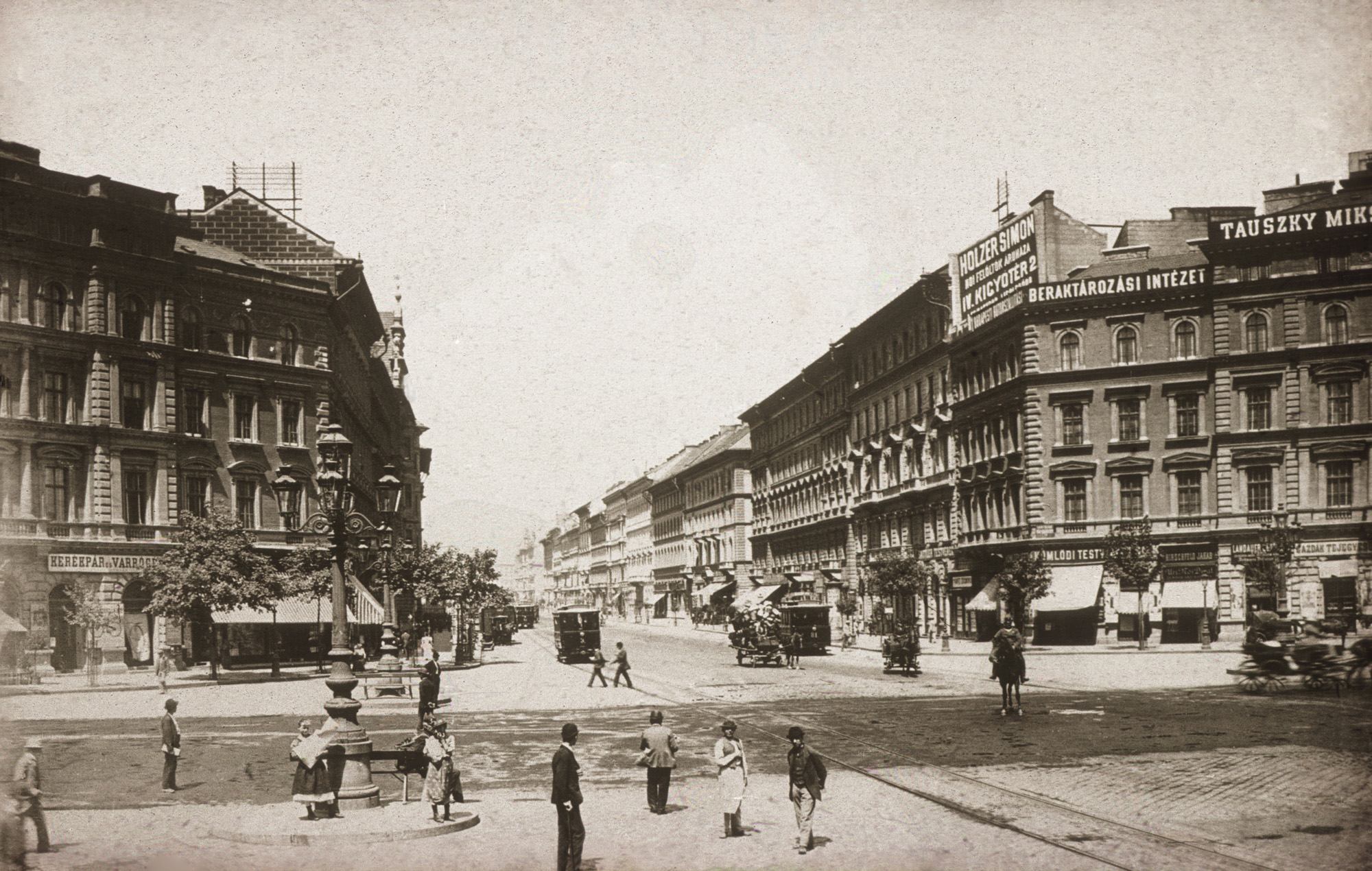 Fotó: Klösz György: Erzsébet körút, 1894 (Kisképző Digitális Fotótár)