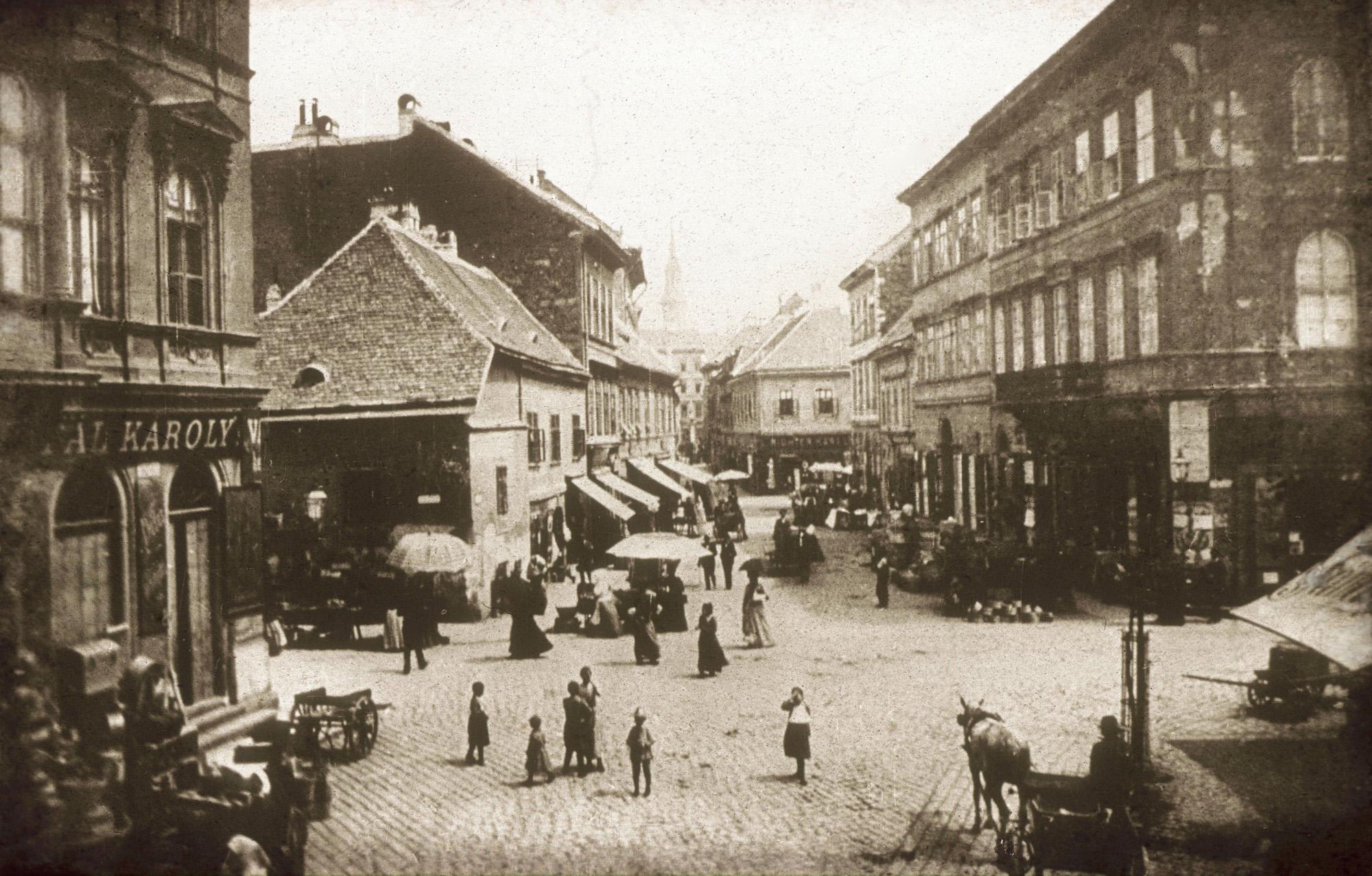 Fotó: Klösz György: Duna u., 1894 (Kisképző Digitális Fotótár)