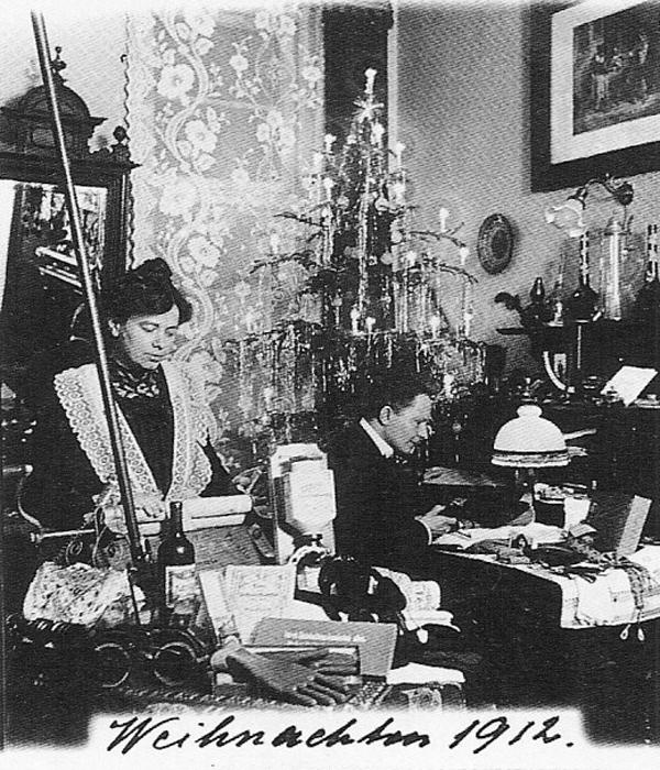 Fotó: Anna und Richard Wagner: Önarckép, 1912. karácsony © Heimatmuseum Charlottenburg