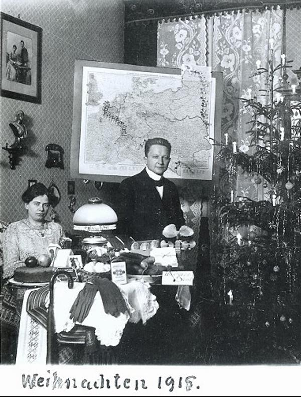 Fotó: Anna und Richard Wagner: Önarckép, 1915. karácsony © Heimatmuseum Charlottenburg