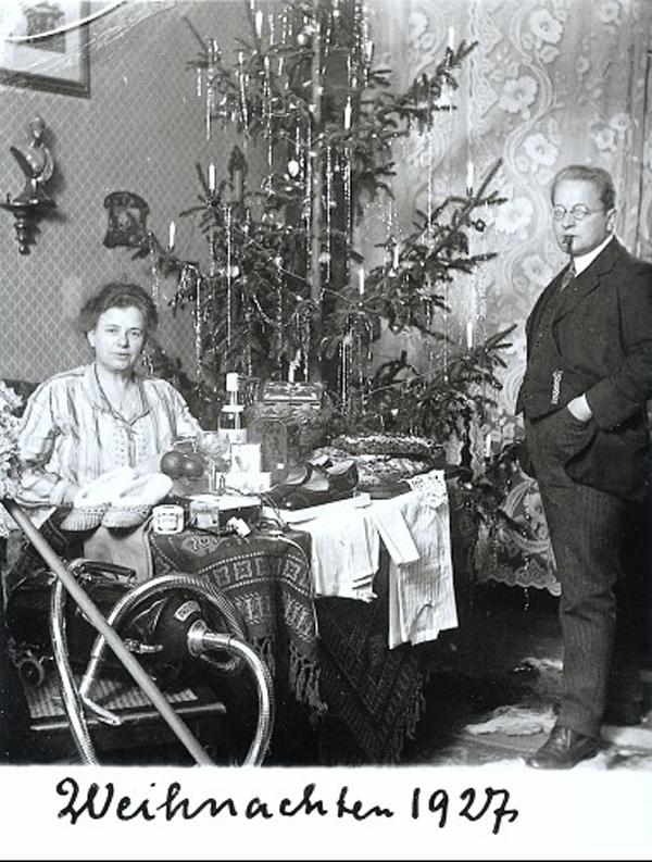 Fotó: Anna und Richard Wagner: Önarckép, 1927. karácsony © Heimatmuseum Charlottenburg