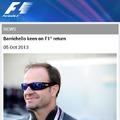 Mansell, Schumacher és most Barrichello is?