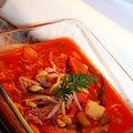 Rizstésztás zöldségleves olaszosan