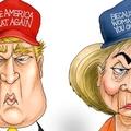 Trump és Clinton tovább süllyed a mocsárba