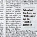 Német sajtó: Orbán esete a szélsőjobbos palackkal