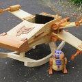 Star Wars mánia: X-szárnyú hintavadászgép gyerekeknek