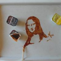 Festmények kiömlött finomságokból