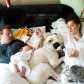 Humoros fotókon a családi káosz
