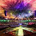 Az olimpiai tűzijáték képekben