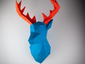 Geometrikus papírtrófea modern kori vadászoknak