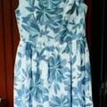 Kék nagyvirágos ruha