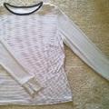 Kék-fehér keskeny csíkos póló