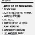 Egy alkotó szabályai