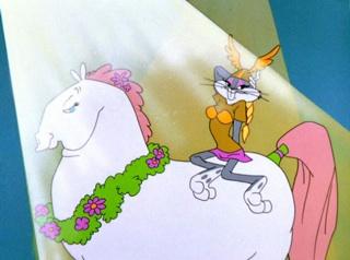 """[Bugs Bunny mint Brünhilda Chuck Jones 1957-es """"What's Opera, Doc?"""" című rajzfilmjében]"""