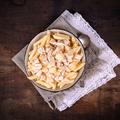 Tejszínes, sajtos, ananászos csirke