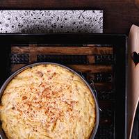 Vaníliás, túrós copfocska a sütőből