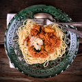 Darált húsos, cukkinis spagetti