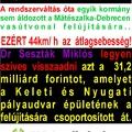 Kérjük vissza a 31,2 milliárd forintot!
