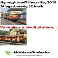 Mátészalka-Nyíregyháza vasútvonal, 9%-kal csökken a menetidő !