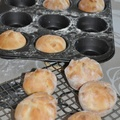 Gyros hússal töltött batyu muffin formában sütve