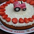 Epres mascarpones túró torta, kicsit traktorosan