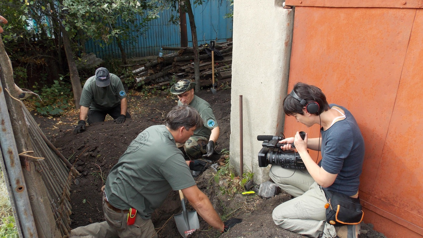 Jelenet a Hová tűnt Mocsáry őrnagy című film forgatásáról