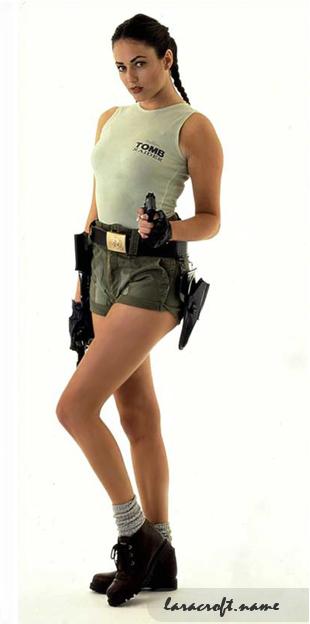 """Egyike volt azoknak a lányoknak, akiket az 1996-os ECTS-en (European Computer Trade Show) Larának öltöztettek. Igazán népszerűvé viszont akkor vált, amikor ugyanez év decemberében feltűnt a brit PC Zone magazinban, majd 1997-ben a The Mirror is leközölt róla egy képet. Bár nem számít hivatalos Lara-modellnek, máig az első """"igazi, élő"""" Laraként emlegetik."""