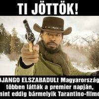 Django elszabadul – már az első hazai nap is nagy siker!