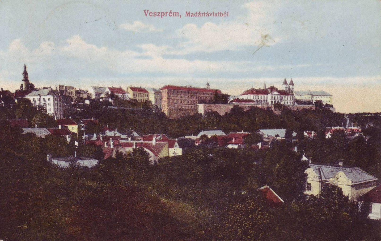 Veszprém látkép 1914