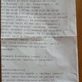 Nyomtatott értesítés a Postától