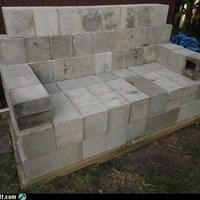Kanapé betonból