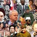 Falra festett diktátorok