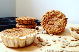 Lencsés paradicsomos muffin