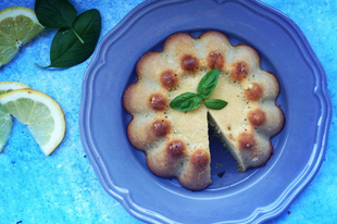 Citromos bazsalikomos sütemény