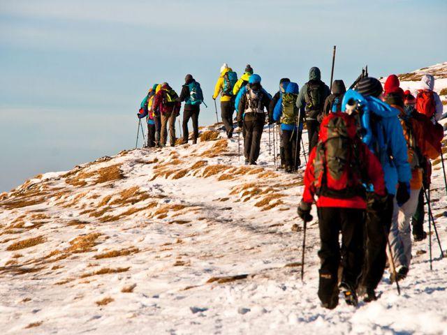 Schneeberg télen - pici Schnee, nagy Berg