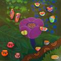 Dzsungel lila virággal / Jungle